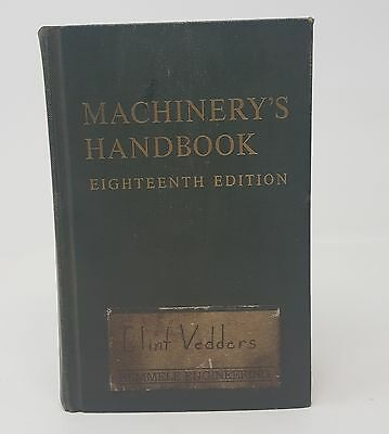 1970 Machinery's Handbook 18th Edition 2293 Pages by Industrial Press Student