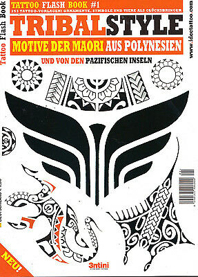 Tattoo Flash Book #1 Tribal Style!!Top Zustand!Ungelesen!