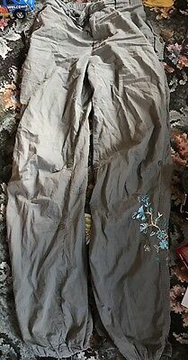 Nice Green Floral Trousers From George 12-13 Years Good Condition