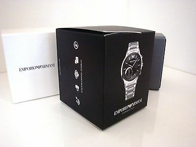 Emporio Armani Hybrid Smartwatch Box with Instruction and Warranty Booklet ~ NEW