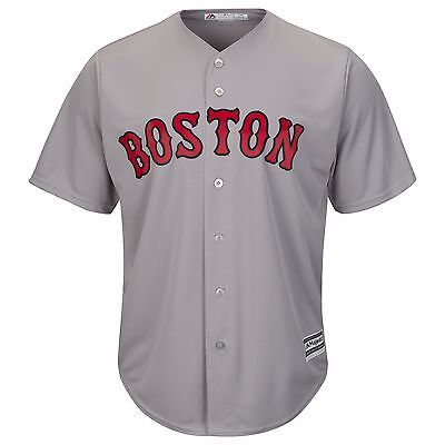MLB Baseball Trikot BOSTON RED SOX grau Road Cool base Majestic Jersey