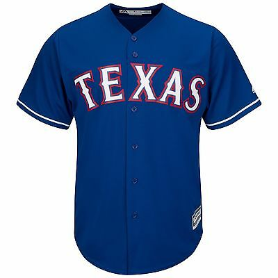 MLB Baseball Trikot TEXAS RANGERS blau blue Cool base Majestic Jersey
