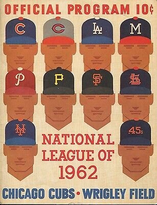 1962 Reds @ Chicago Cubs Wrigley Field Scored Program Lou Brock Ken Hubbs