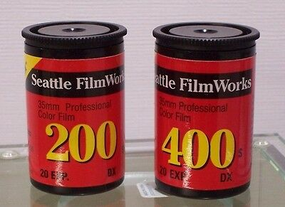 4 rolls from different manufactures of 35 mm Color Print Film