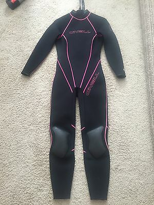O'Neill Womens Full Body Wetsuit Pink/Black Size 10