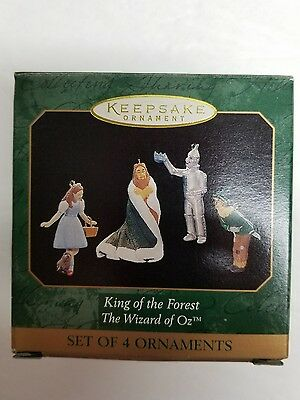 Hallmark Keepsake King Of The Forest Ornaments The Wizard Of Oz 4 Figures NIB FS
