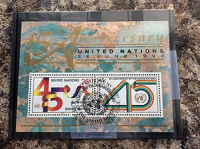 United Nations 45th Anniversary Stamps Mint Condition Very Collectible