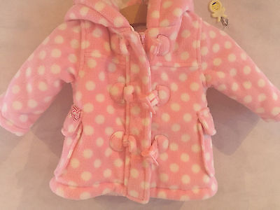 Baby Girls Polka Dot Coat - 0-3 Months - Soft and Padded