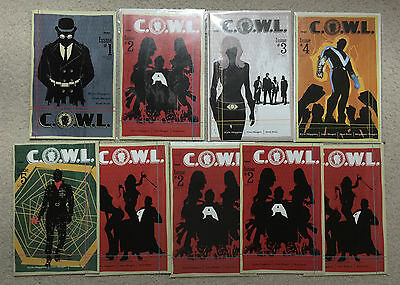 C.O.W.L. #1, #2, #3, #4, #5, (Image Comics) extra copies for a total of 9 issues