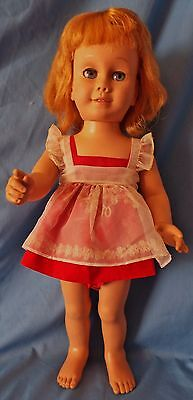 Vintage Mattel 1960 1ST Issue CHATTY CATHY Cloth Grill Doll in original Outfit
