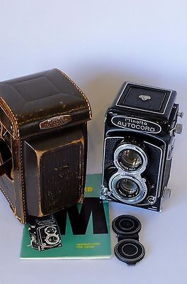 Minolta Autocord Tlr Camera With 75Mm F3.5 Lens & Case Very Nice