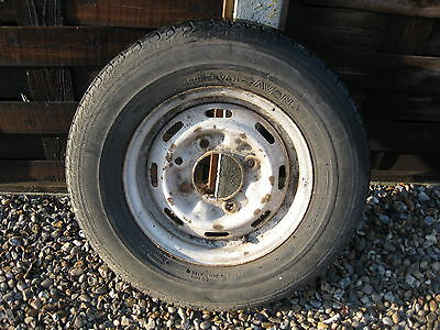 """trailer wheel and tyre 175r13c   5.5""""pcd will fit ifor williams"""