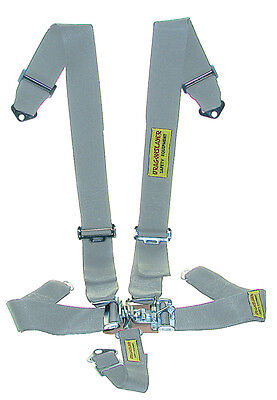 Race Car 5-Pt Gray Seat Belts Dual Shoulder Harness - SFI Safety Harness #1569