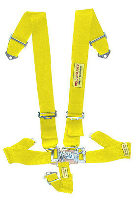 Race Car 5-Pt Yellow Seat Belts Dual Shoulder Harness - SFI Safety Harness #1564
