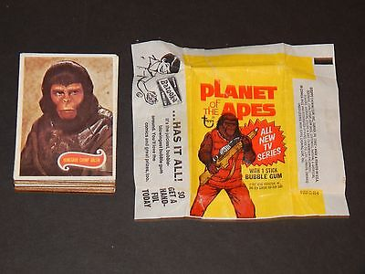 1975 Original Topps PLANET of the APES  TV Series Set of 66 Cards with Wrapper
