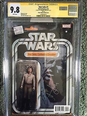 Han Solo #1 Carbonite Action Figure Variant CGC 9.8 SS Signed By Harrison Ford