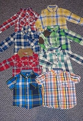 baby boys checked shirts 9-12m bundle some next