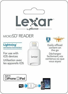 Lexar Microsd To Lightning Reader For Apple Iphone Ipad Brand New Factory Sealed