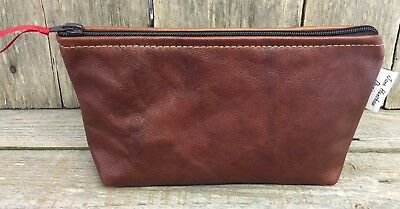 Leather Makeup bag,Leather Toiletries bag,gifts for her,cosmetic bag,travel bag