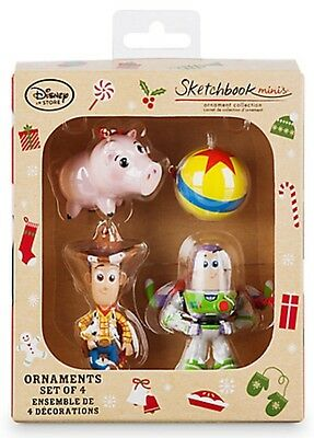 Disney Store Toy Story Sketchbook Minis Ornament Set New In Box