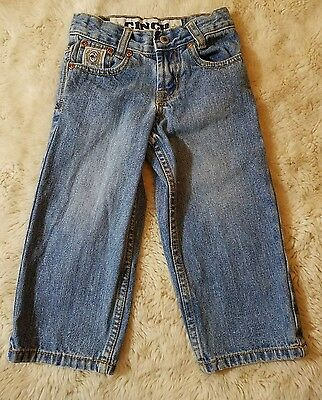 *CINCH* Size 2T boys blue denim Western JEANS adjustable waist