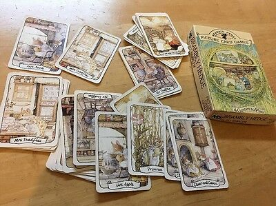 Vintage card game Brambly Hedge Picture Card Games 1982 Complete Rare
