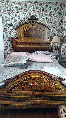 1880's Hand-Painted 5 Piece Bedroom Set