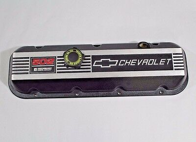 Single OEM Chevy 502 Big Block Valve Cover with Oil Fill Cap - Free Shipping