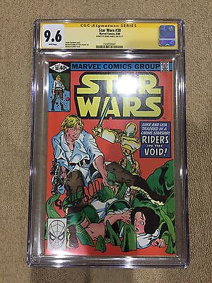 Star Wars #38 Signed By Mark Hamill CGC 9.6 White Pages Marvel Comics Bronze Age