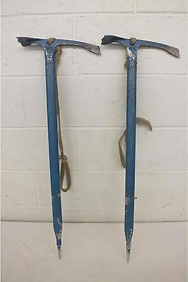 "Matched Pair Vintage MSR Thunderbird Blue 33"" Ice Axes Satisfaction Guaranteed"
