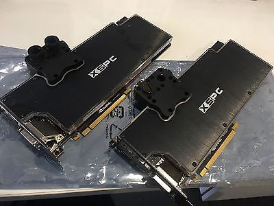 2x Galax GTX 980 4GB Graphics Card with XSPC Waterblock