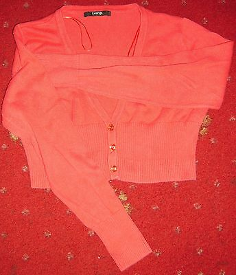 Red short cardigan with long sleeves age 11-12