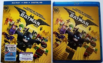 Dc Comics The Lego Batman Movie Blu Ray + Dvd 2 Disc Set & Slipcover Free Shippi