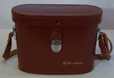 Vtg BELL & HOWELL LEATHER BINOCULAR CASE w/ STRAP Japan PASSED Label *CASE ONLY*