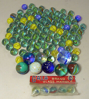 Bulk Lot 107 Vintage MARBLES collection 8 Shooter retro classic kids toy game