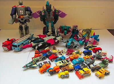 Collection of 43 Vintage G1 Transformers Toys Action Figures Robots Original 80s
