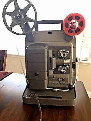 Vintage Bell and Howell 253 AX 8mm Film Movie Projector Works !!