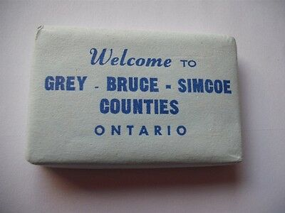 Welcome To Grey Bruce  Simcoe Counties Ontario Canada Vintage Hotel Soap