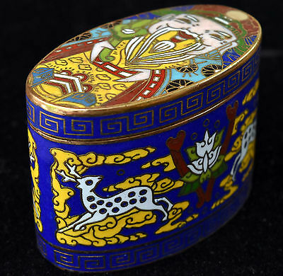 Vintage Chinese Cloisonne Jewelry/Pill Box