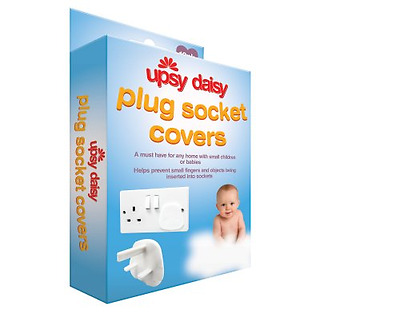 12 Pack Plug Socket Baby Proof Child Saftey Protector Upsy Daisy Socket Cover