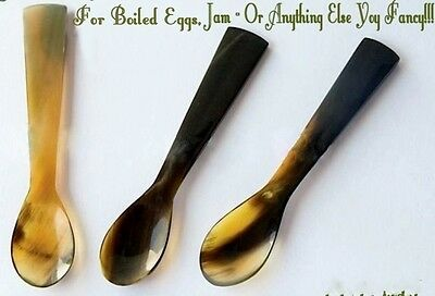 Ox Horn Boiled Egg or Jam Spoon