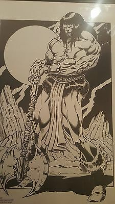 CONAN Original Art from Seattle Comic Con 1999 Framed Mark Brown Peter Temple