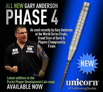 GARY ANDERSON 23 gram UNICORN WC PHASE 4 PURIST 90% TUNGSTEN DARTS
