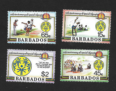 Barbados 697 - 700 VF MNH Set of 4 Special Olympics