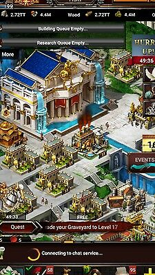 game of war account