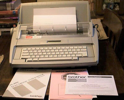 Brother Sx-4000 Electronic Typewriter With Display & Spell Check