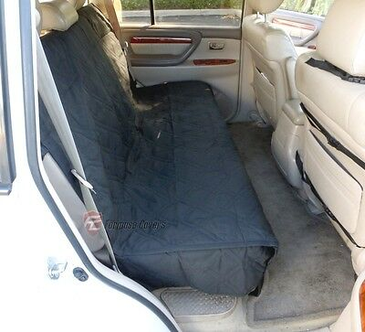Suv Truck Car Back Seat Bench Cover For Dogs and Cats. Quilted & Padded. Black