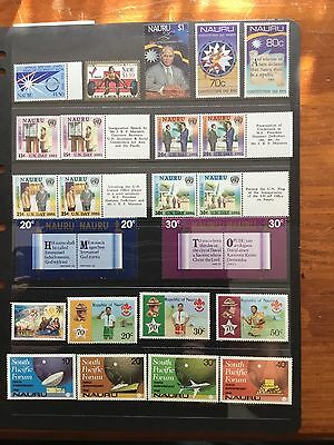 25 MNH Stamps From Nauru