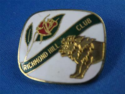 Lions Club Canada Richmond Hill Ontario Vintage Pin Rose Flower