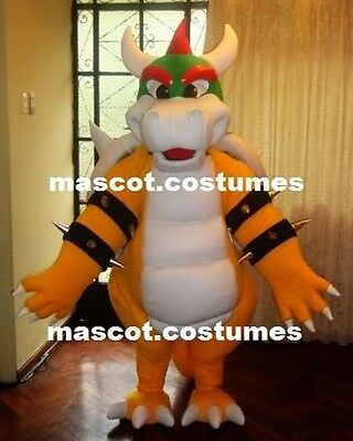 New Bowser Koopa Mascot Costume Professional mario bross Character 5' 8""